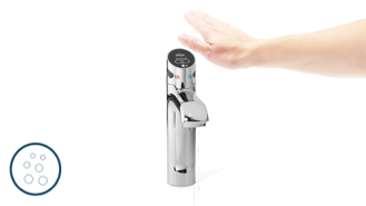 Touchless sparkling water tap