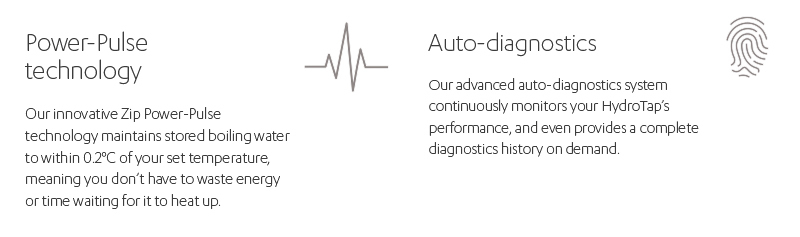 Power-pulse technology. Auto-diagnostics.